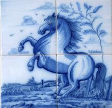 Paard op 4